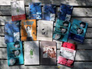 """De 2001 à nos jours, """"l'Épinard de Yukiko"""" en neuf langues et treize éditions."""