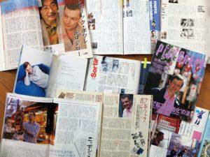 """""""L'Épinard de Yukiko"""" et Frédéric Boilet dans la presse japonaise (non exhaustif). De gauche à droite et de haut en bas : Comickers, Asahi Camera, Sevenseas, InterCommunication, Figaro Japon, Play Graph, Yomiuri Weekly, Da Vinci, Comickers."""
